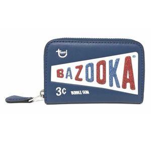 Coach Zip Around Coin Case Blue Ink Bazooka Wallet